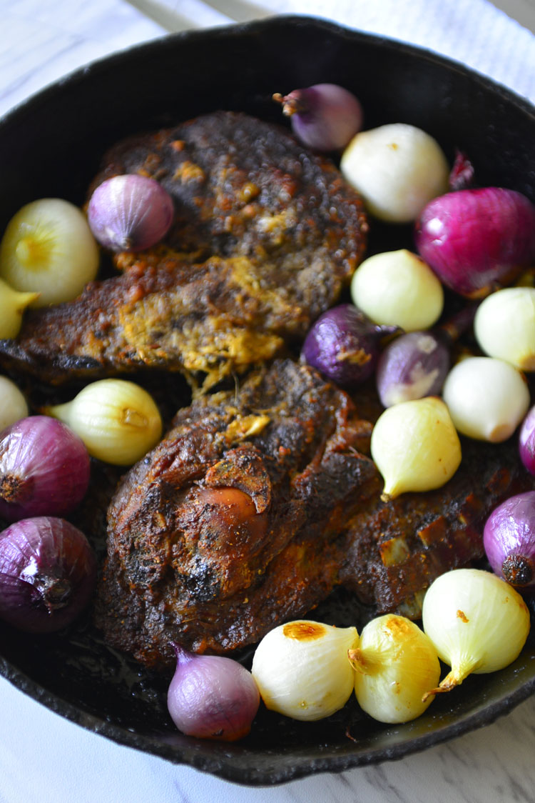 Roast Lamb With Indian Spices