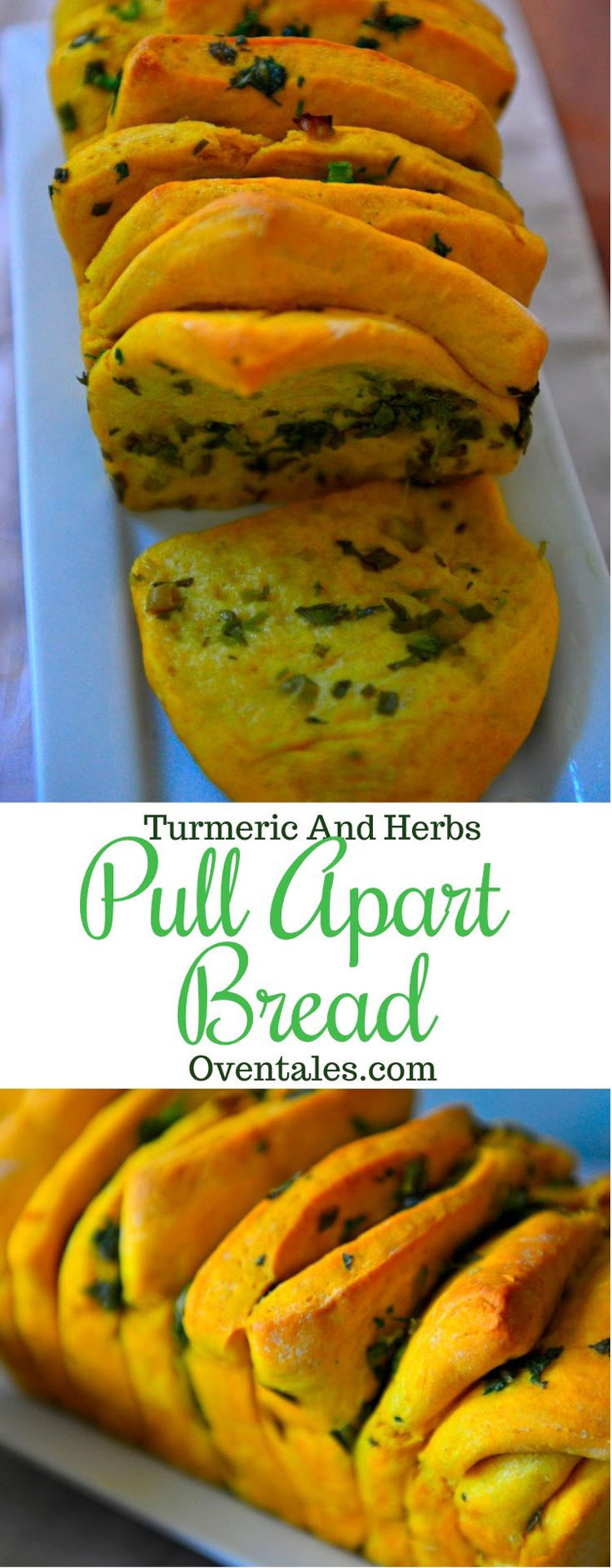 Turmeric And Herb Pull Apart Loaf