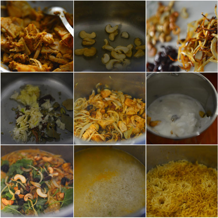 Making Jackfruit Biryani