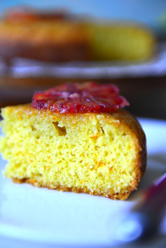 Blood Orange Madeira Cake