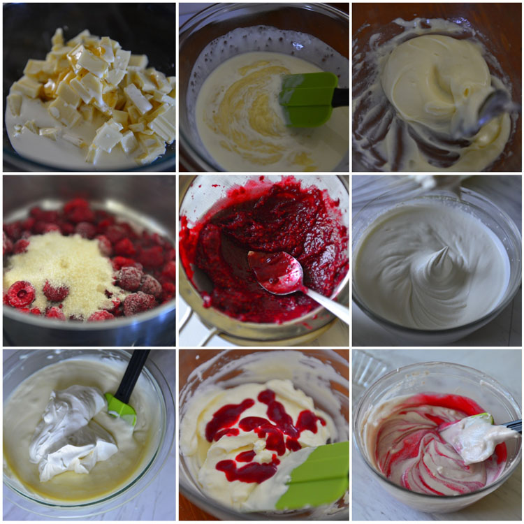 Making WhiteChocolate Raspberry Mousse