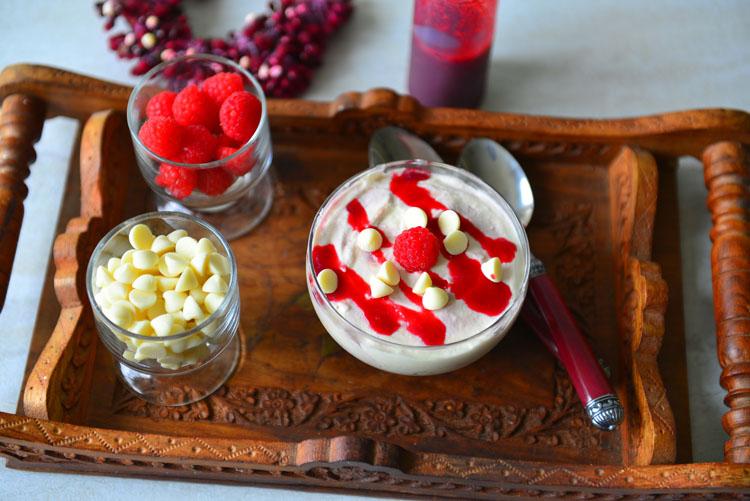 WhiteChocolate Raspberry Mousse