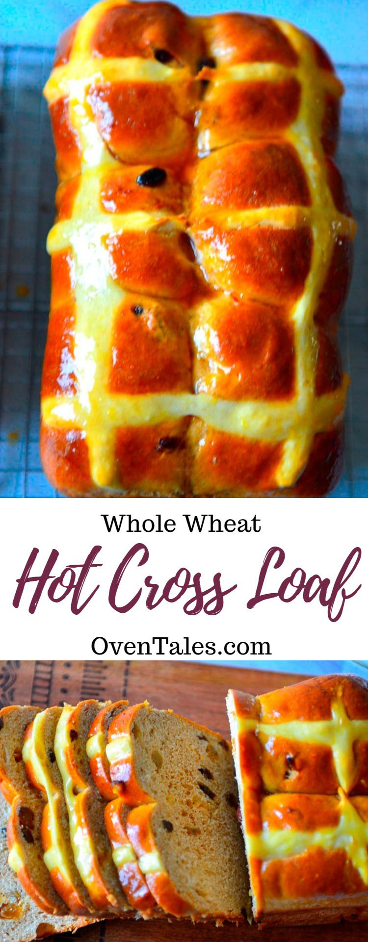 Whole Wheat Hot Cross Bun Loaf