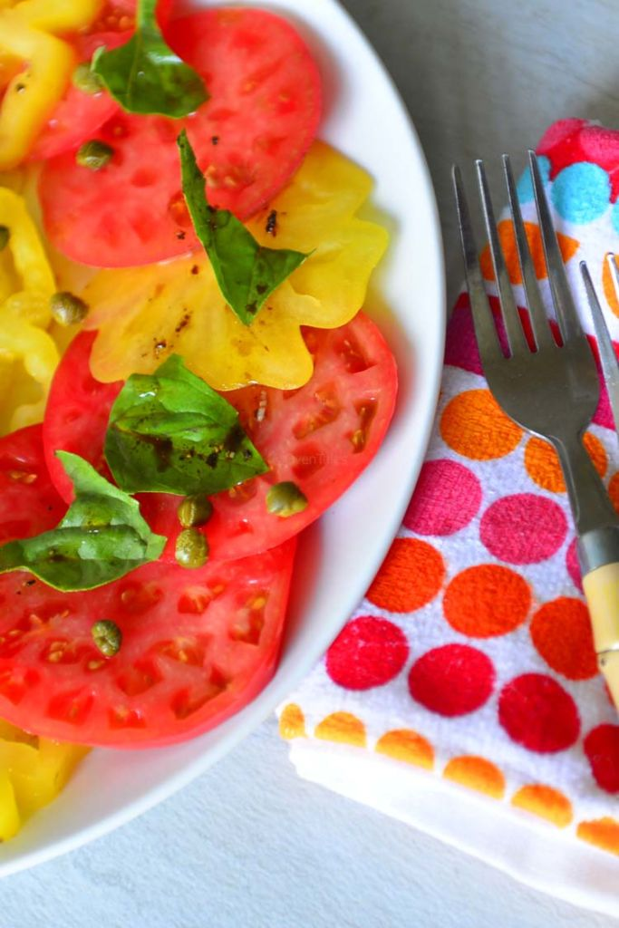 Garden Tomato Salad with Heirloom Tomatoes