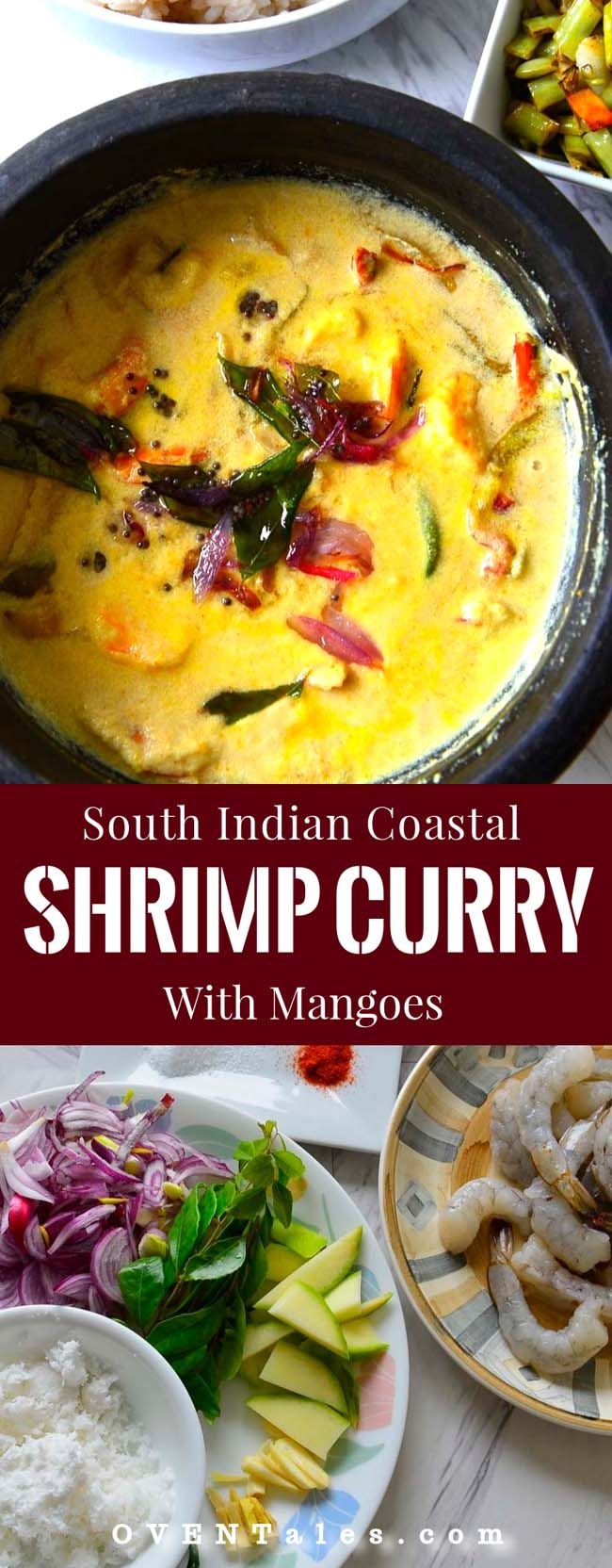 Kerala Style  Shrimp  Curry with mangoes