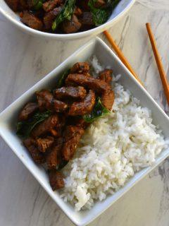 Stir Fried Thai Basil Chili Beef