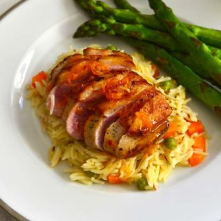 Grilled Duck Breasts With Spiced Orange Sauce