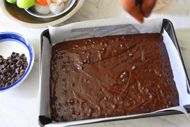 Moist Double Chocolate Brownie With Coconut Oil Batter
