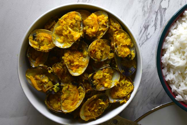 Goan Style Dry Clam Dish with Coconut