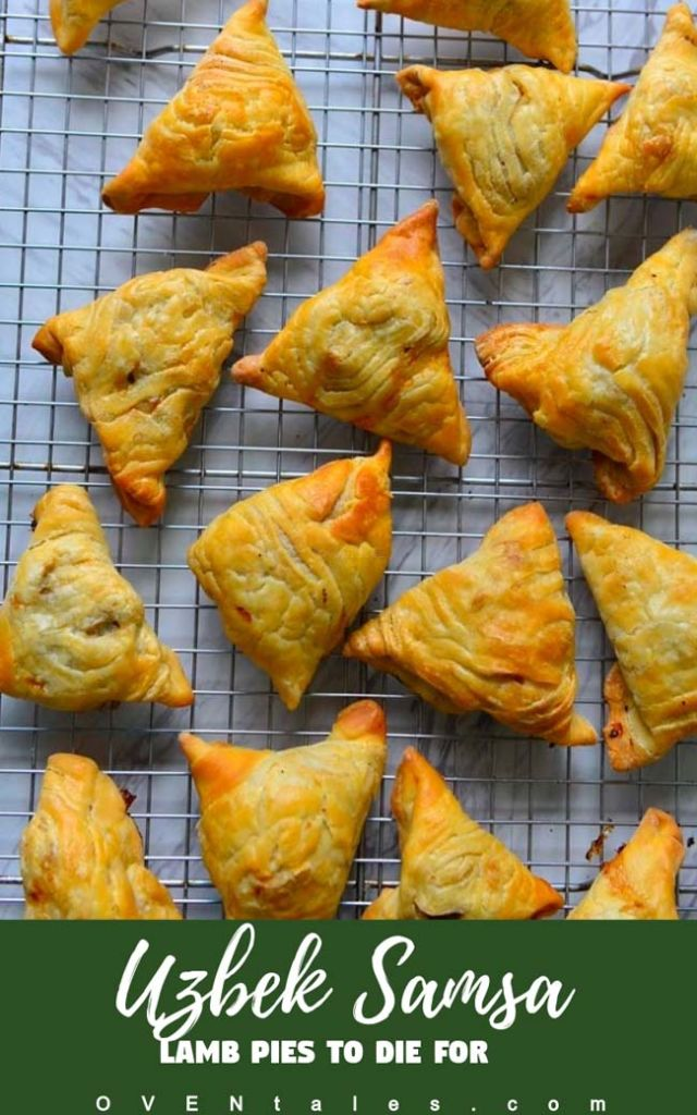 Uzbek Samsa - The flaky pastry with minced lamb filling.