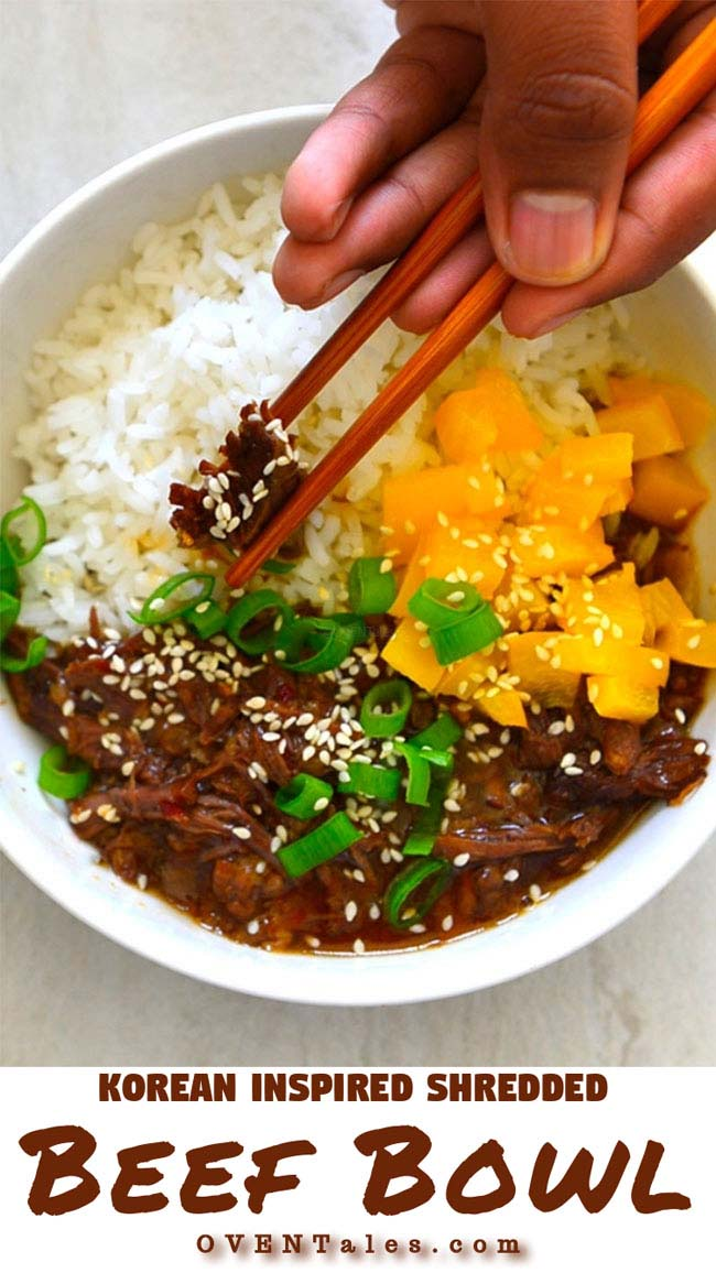 Korean Inspired Shredded Beef Bowl