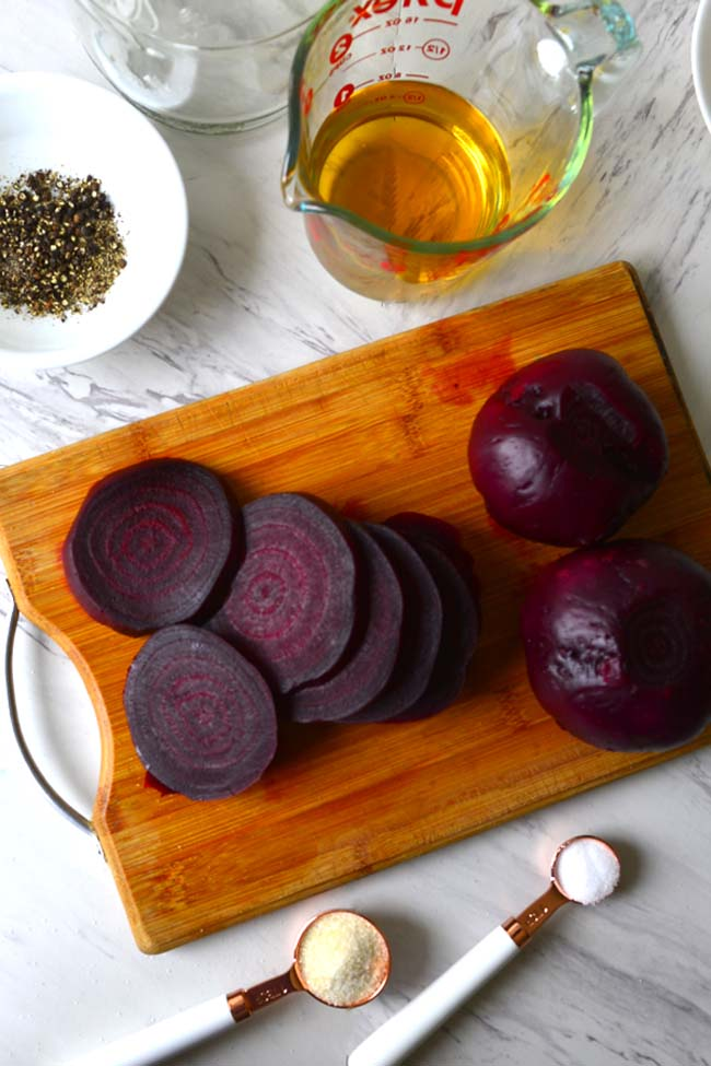 Pickled Beets - All the ingredients needed to pickle the beets