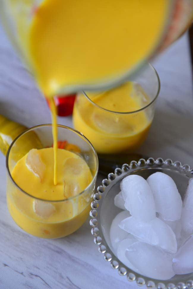 A chilled  glass of  Mango Lassi  is  the perfect  cooler for  an Indian  Summer
