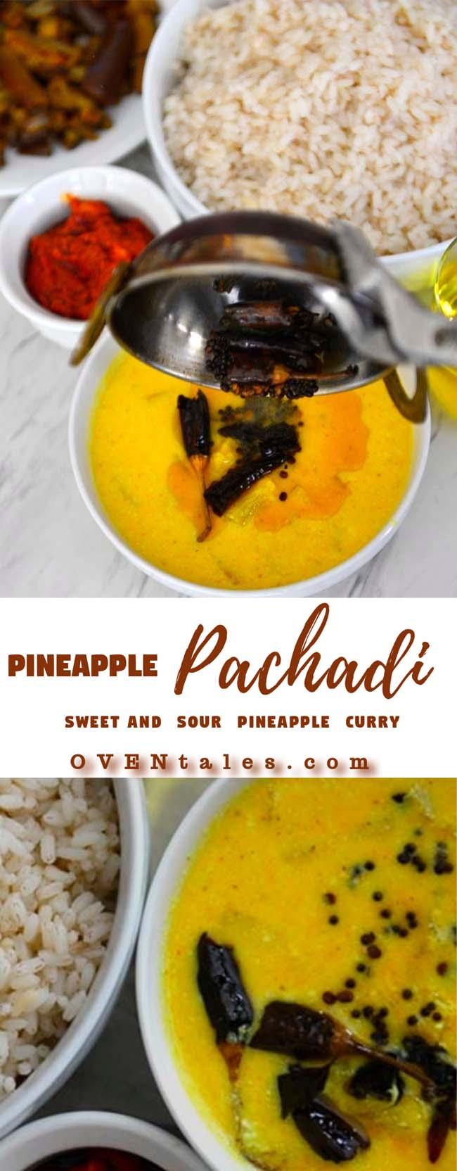 Pineapple or Kaithachakka pachadi