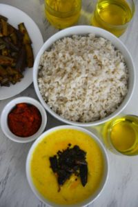 A Kerala meal with Pineapple Pachadi