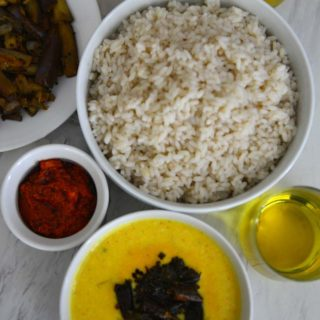 A Kerala meal with Pineapple Pachadi