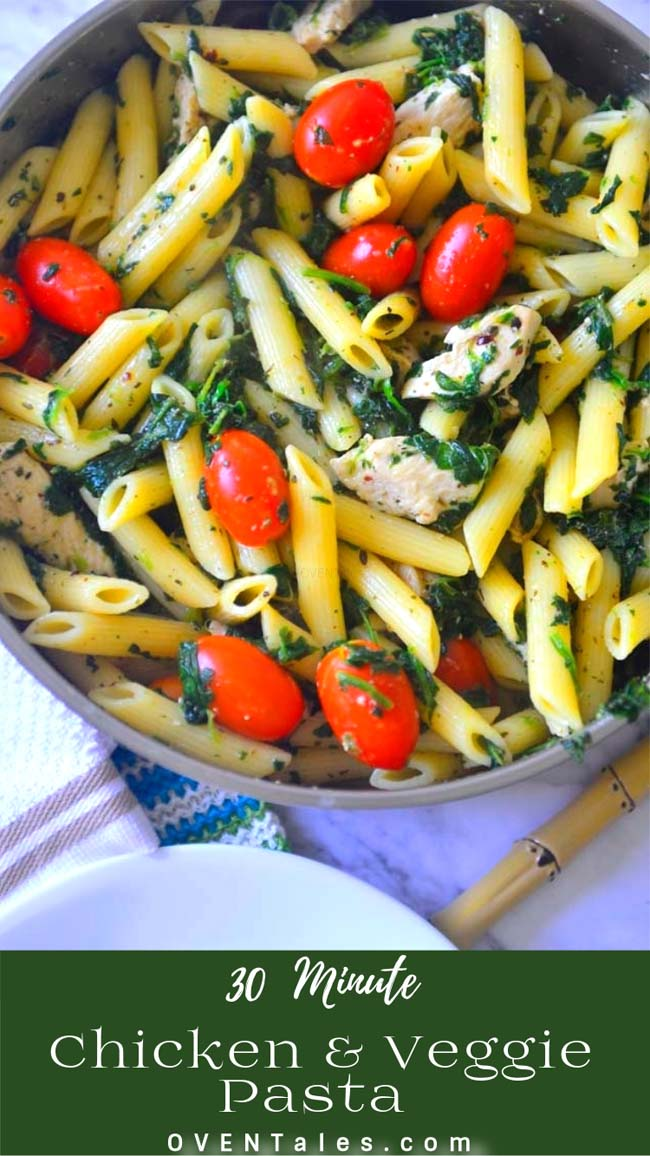30 Minute Dairy Free Creamy Pasta With Chicken And Vegetables
