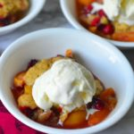 Easy Cranberry And Peach Cobbler - Easy No fail From Scratch Recipe