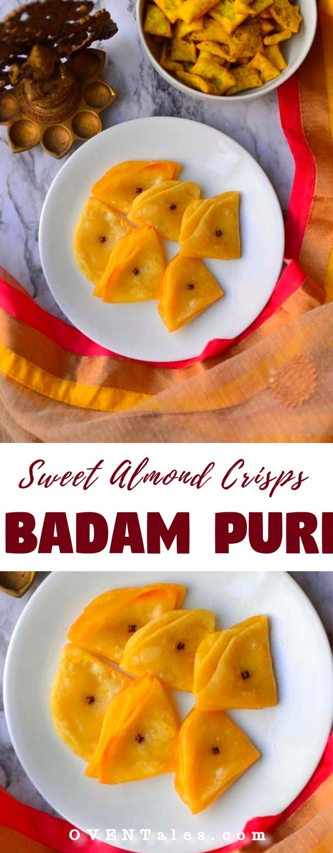 Badam Puri or Badami Puri or Almond Poori