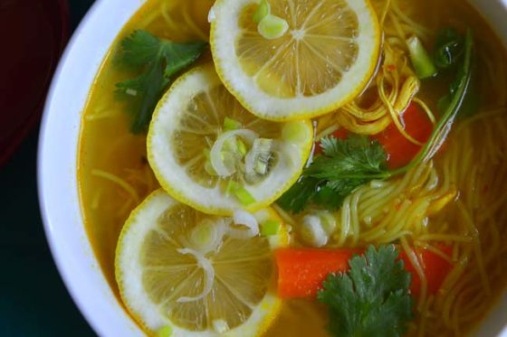 Spicy chicken Noodle Soup Inspired by Tibetan Thupka