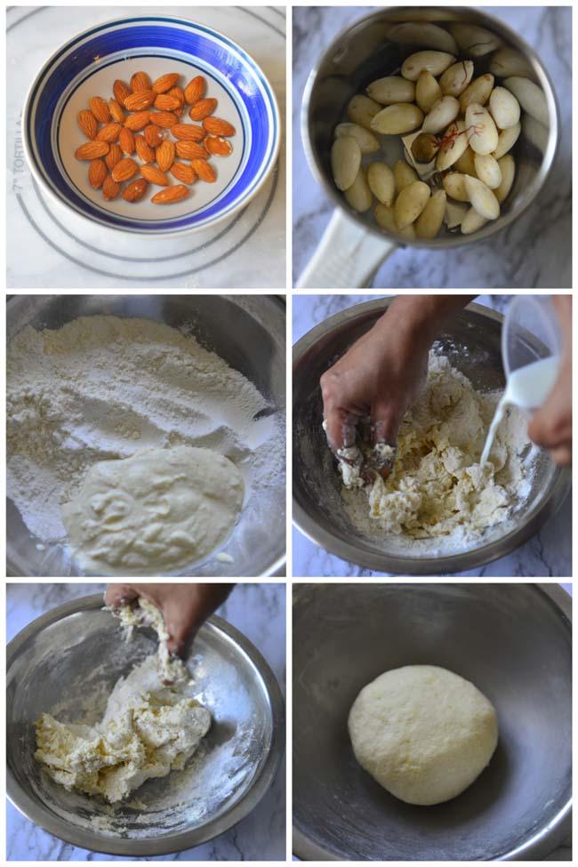 Making Dough For Badam Puri