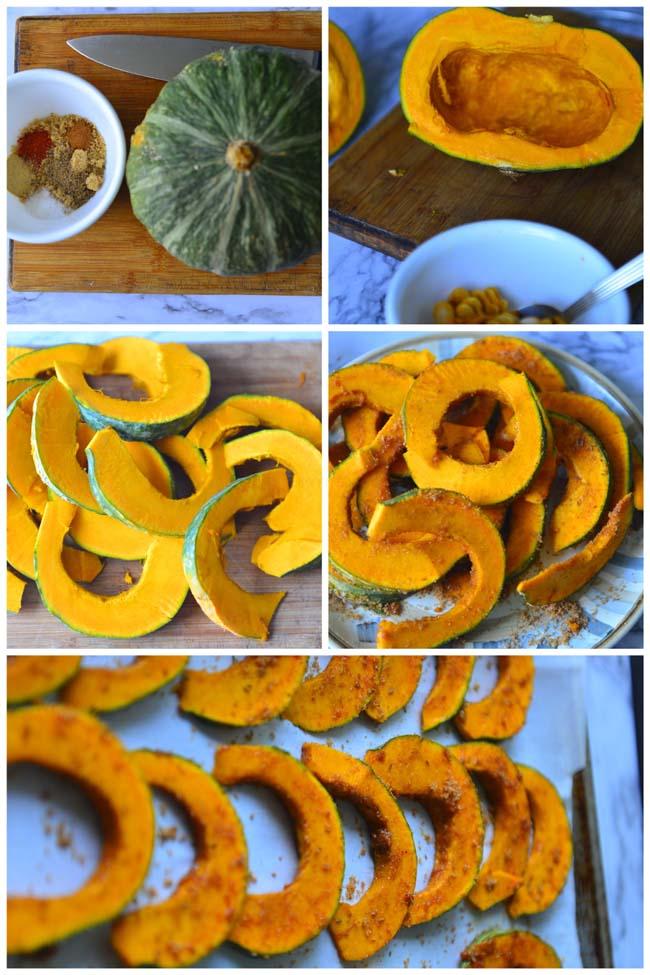 Hot And Sweet Roasted Kabocha squash