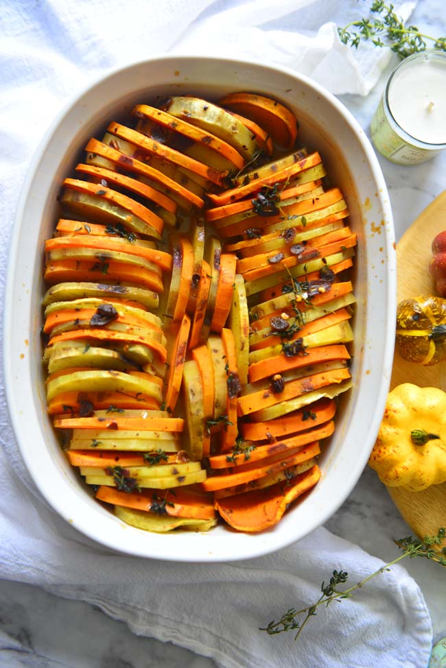 Savory Sweet Potato Casserole Vegan