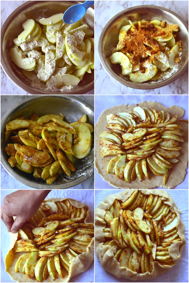 Making apple galette or apple crostata
