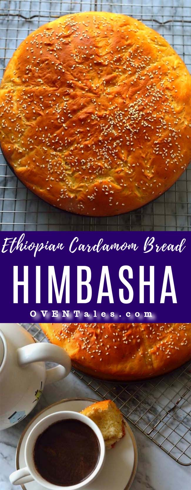 The Ethiopian and Eritrean Celebration bread lightly sweetened and flavored with cardamom