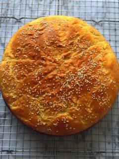 Ehtiopian celebration bread - Himbasha or Ambasah - lightly sweet adn spiced with cardamom