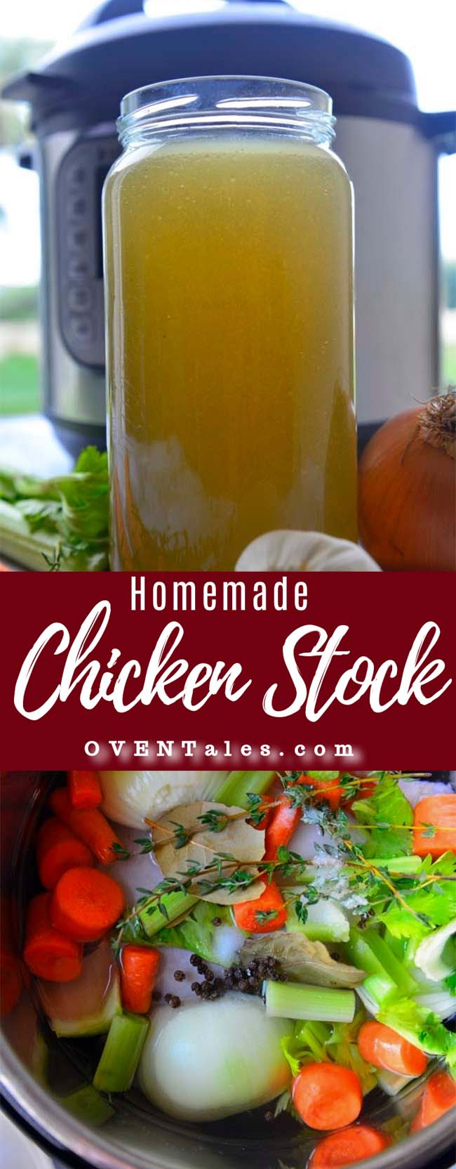 Home made chicken stock - easily made in a pressure cooker