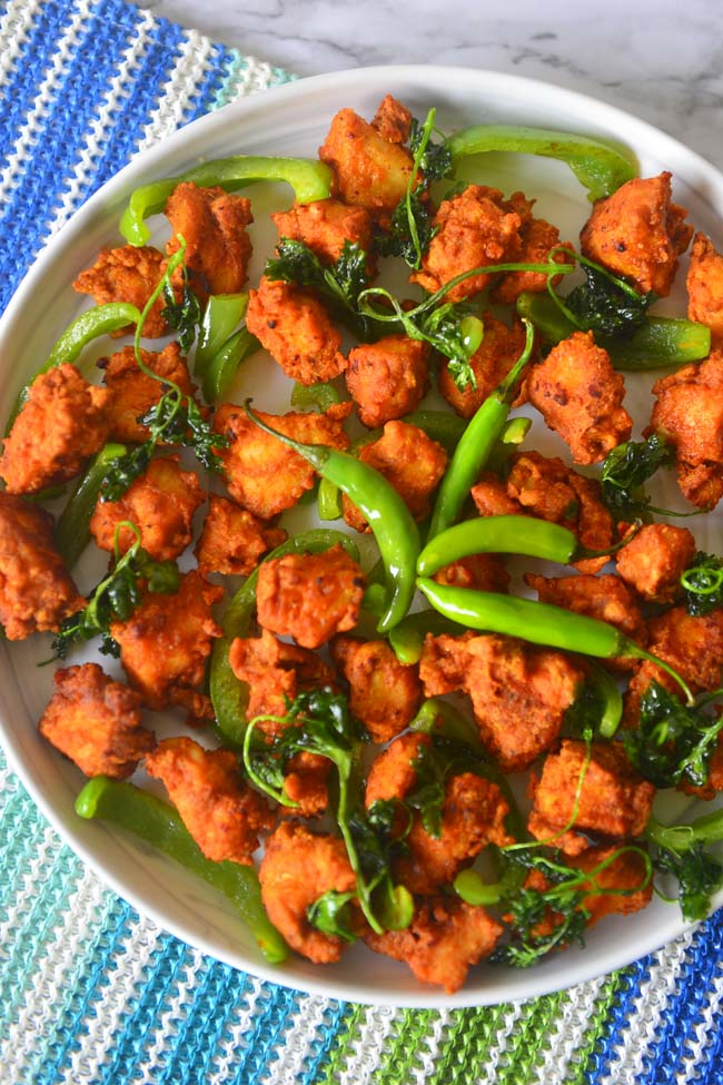 Boneless Fried  chichen bites - chicken pakora