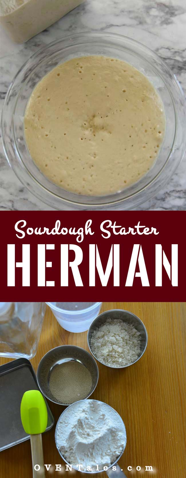 Herman starter is used to make cakes and breads