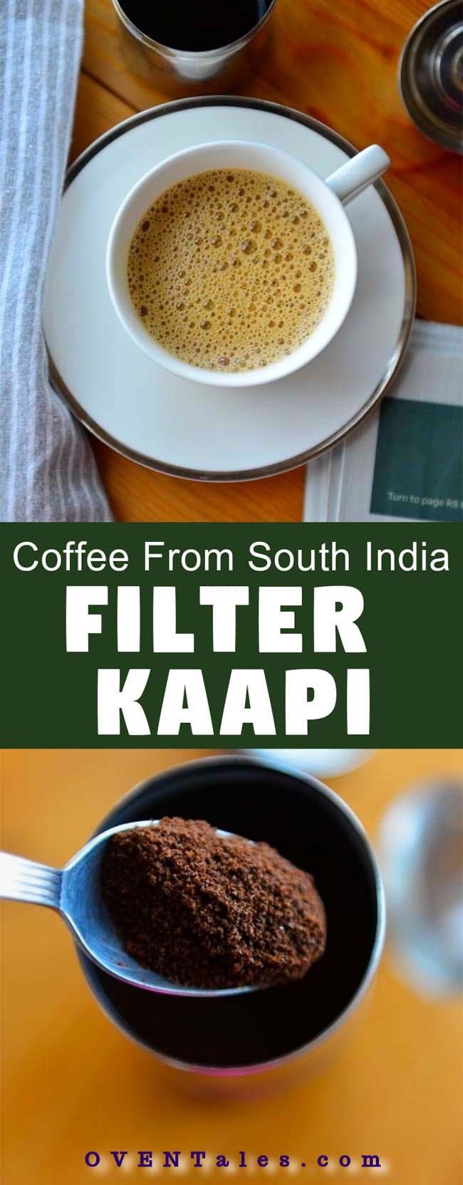 South Indian Filter Coffee - Aromatic percolated coffee served with hot frothy milk