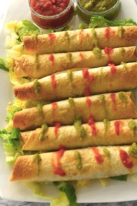 Deliciously crunchy and light chicken Flautas / taquitos