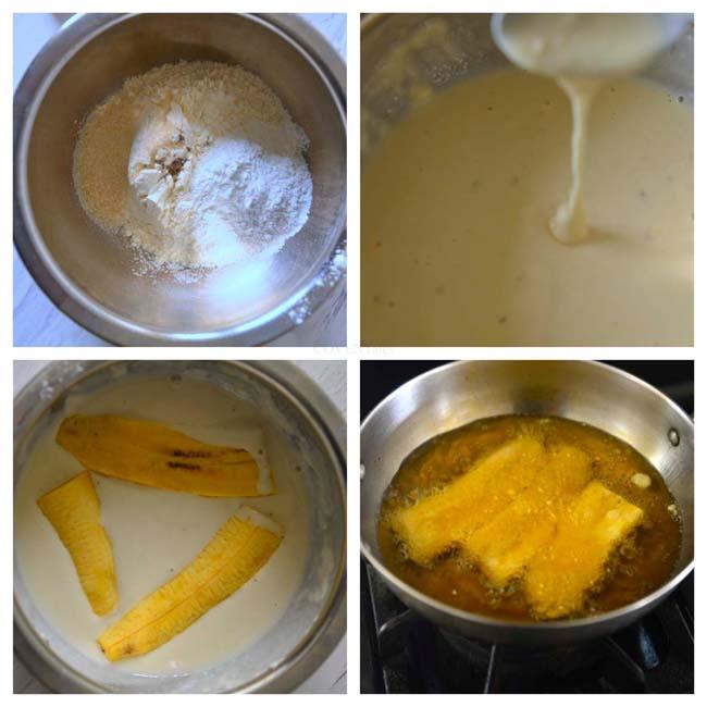 Making Pazham Pori or Ethakka Appam