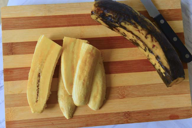 Ripe plantain slices